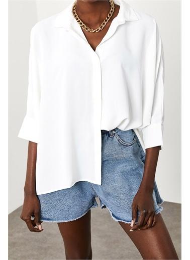 XHAN Beyaz Salaş Gömlek 1Kxk2-44833-01 Beyaz